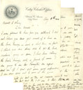 "Autographs:Letters, 1906 Adrian ""Cap"" Anson Handwritten Signed Six-Page Letter. Very lengthy correspondence from the founding member of the 3,0..."