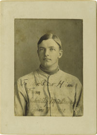 1911 Christy Mathewson Signed Cabinet Photograph. A dream will come true for one sophisticated collector here, as Herita...