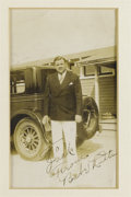 Autographs:Photos, Late 1920's Babe Ruth Signed Photograph with Unsigned Snapshots.Exceptional one-of-a-kind image of the great Bambino posin...