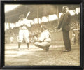 Autographs:Photos, Early 1930's Babe Ruth Signed Photograph. One of a kind image was snapped by a professional shutterbug at a Yankee Spring T...