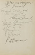 Autographs:Others, 1934 Baseball Autograph Album with Wagner, Waner Brothers, Hornsby. Young Irene Mendel obviously put a great deal of work i...
