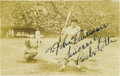 Autographs:Photos, 1930's Babe Ruth Signed Photograph. Scarce image pictures the Babeas a member of the American squad while on the famous 19...