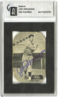 Autographs:Sports Cards, Joe DiMaggio Signed 1934 E137 Zeenut Card. The future YankeeClipper was just a twenty-year old San Francisco Seal when thi...