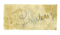 Autographs:Others, 1930's Lou Gehrig Signed Cut Signature. They say that big thingscome in small packages, and that's definitely the case her...