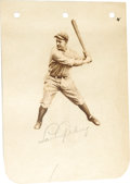 Autographs:Others, 1930's Lou Gehrig Signed Album Page. Beautiful in its understated simplicity, this 10/10 pencil autograph paired with a del...