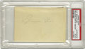 Autographs:Others, 1930's Jimmie Foxx Signed Cut Signature. The slugging superstar forthe Philadelphia Athletics and the Boston Red Sox appli...