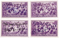 Autographs:Others, 1946 Hall of Famers Signed Postage Stamps Lot of 4. Though each of the four autographs in this fine collection are hand not...