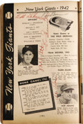 Autographs:Others, 1942 Who's Who in Baseball Signed by Most Major League Players. When it comes to a piece such as this, comprising literally...