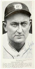 """Autographs:Others, Circa 1943 Ty Cobb Signed Photograph in Book. This hardcover edition of """"Baseball's Greatest Drama"""" by Joseph J. Krueger ca..."""