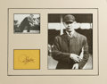 """Autographs:Others, 1940's Bill Klem Signed Album Page. """"Don't cross the Rio Grande,""""the Hall of Fame umpire used to tell argumentative player..."""