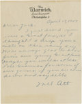 Autographs:Letters, 1947 Mel Ott Handwritten Signed Letter. The thirty-eight year oldslugger would hang up his bat after appearing in just fou...