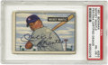 Autographs:Sports Cards, 1951 Bowman Mickey Mantle #253 PSA PR-FR 1, Signed. Don't be misled by the technical grade assigned by PSA. A tack hole at...