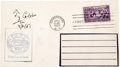 Autographs:Others, 1951 Ty Cobb Signed First Day Cover. We knew that Cobb was late to the Hall of Fame induction ceremonies (explaining his ab...