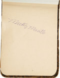 Autographs:Others, Early 1950's Autograph Book with Two Rookie Mantles, Len Ford. In truth, there are actually three Mickey Mantle autographs,...