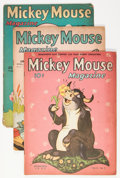 Platinum Age (1897-1937):Miscellaneous, Mickey Mouse Magazine Group (K. K. Publications/ Western PublishingCo., 1937-38).... (Total: 5 Comic Books)