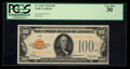 Small Size:Gold Certificates, Fr. 2405 $100 1928 Gold Certificate. PCGS Very Fine 30.. ...