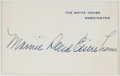 Books:Americana & American History, Mamie Doud Eisenhower (1896-1979, American First Lady from1953-1961). Signed Card. The White House/Washington, [n.d., ca.1...
