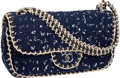 Luxury Accessories:Bags, Chanel Navy Blue Fantasy Tweed Classic Single Flap Bag withGunmetal Hardware. ...