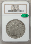 Seated Dollars: , 1847 $1 VF30 NGC. CAC. NGC Census: (8/350). PCGS Population(19/471). Mintage: 140,750. Numismedia Wsl. Price for problem f...