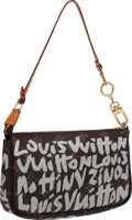 Luxury Accessories:Bags, Louis Vuitton 2001 Graffiti Collection by Stephen Sprouse SilverClassic Monogram Pochette. ...
