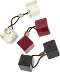Luxury Accessories:Accessories, Set of Three: Louis Vuitton Ponytail Holders and Case. ...