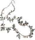 Luxury Accessories:Accessories, Chanel Ornate Leaf & Bead Necklace. ...