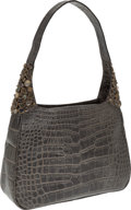 Luxury Accessories:Bags, Darby Scott Brown Alligator Bag with Stones. ...