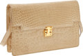 Luxury Accessories:Bags, Lana Marks Beige Shiny Crocodile Clutch with Shoulder Strap. ...