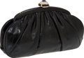Luxury Accessories:Bags, Judith Leiber Black Lizard Clutch with Crystal Clasp Closure. ...