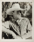 Books:Americana & American History, Buck Jones (1891-1942, American Western Actor). Signed Photograph.[N.p., n.d., ca. 1930]. Inscribed to Paul Conlon. Black a...