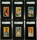 Baseball Cards:Singles (Pre-1930), 1909-11 T206 White Borders Scarcities Lot of Six....
