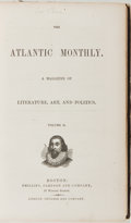 Books:Literature Pre-1900, [The Atlantic Monthly]. Six Bound 1858 Issues of The AtlanticMonthly. Boston: Phillips, Sampson and Company, 18...