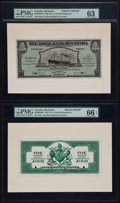 Canadian Currency: , Bridgetown, Barbados- Royal Bank of Canada $5 (£1-0-10) January 2,1920 Ch # 630-30-02FP/BP Face and Back Proofs. ... (Total: 2 notes)
