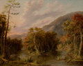 Fine Art - Painting, American:Antique  (Pre 1900), ALBERTUS DEL ORIENT BROWERE (American, 1814-1887). Round TopMountain from the Shinglekill Falls. Oil on wooden panel. 1...