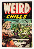 Golden Age (1938-1955):Horror, Weird Chills #3 (Key Publications, 1954) Condition: FN....