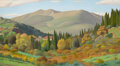 Fine Art - Painting, American:Modern  (1900 1949)  , EDWARD BRIGHT BRUCE (American, 1879-1943). Mt. Morello. Oilon canvas. 21-1/2 x 39-1/2 inches (54.6 x 100.3 cm). Signed ...