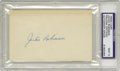 Autographs:Index Cards, 1950's Jackie Robinson Signed Index Card, PSA Mint 9. The unspokenpolicy that kept many of baseball's greatest stars from ...