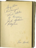 Autographs:Others, 1954 Brooklyn Dodgers Signed Book with Robinson, Alston. Though author Al Campanis' Big League career consisted of seven ga...