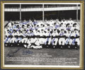 Autographs:Photos, 1955 New York Yankees Team Signed Photograph. The American League Champs pose in their pinstripes with the enormity of an e...