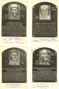 Autographs:Post Cards, 1950's-60's Signed Black & White Hall of Fame Plaques Lot of 4. Whether you're a collector looking to add to your holdings ...