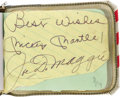 Autographs:Others, Early 1970's Sports Stars Signed Autograph Album with Mantle,Namath, Chamberlain. The son of the director of the popular 1...