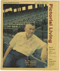 Autographs:Others, 1973 Tom Yawkey Signed Newspaper Photograph. The Hall of Fameexecutive purchased the struggling Boston Red Sox in 1933 and...