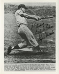 Autographs:Photos, 1970's Roger Maris Signed Photograph of Sixty-first Home Run. Thedefinitive Roger Maris image captures the swing that put ...