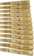 Autographs:Bats, Willie Mays Signed Bats Lot of 12. Many of the Say Hey Kid's 660career home runs were powered out of the park with an Adir...(Total: 12 )