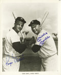 Autographs:Photos, 1980's Mickey Mantle & Roger Maris Signed Photograph. The greatest Yankee duo since Ruth and Gehrig pose together in Yankee...