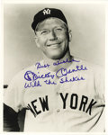 "Autographs:Photos, 1980's Mickey Mantle ""With the Shakes"" Signed Photograph. Almost asfamous for his carousing and boozing as he was for his ..."