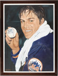 Baseball Collectibles:Others, 1980's Tom Seaver Large Original Artwork by Robert Simon. Secondonly to Leroy Neiman in sports art fame is the tremendousl...