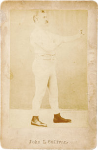 1880's John L  Sullivan Cabinet Cards Lot of 2  Two | Lot