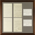 Boxing Collectibles:Memorabilia, 1896 Boxing Contract for Corbett vs. Fitzsimmons Heavyweight Championship Bout. The state of Nevada would host its first le...