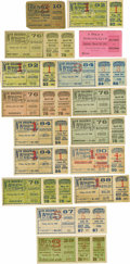 Boxing Collectibles:Memorabilia, 1890's-1900's Boxing Tickets Lot Of 16. An outstanding group of early boxing tickets which includes stubless tickets Smith ...